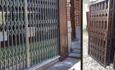 حفاظ درب آکاردئونی در اصفهان